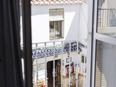 Balcón habitación individual - hostal mena - nerja
